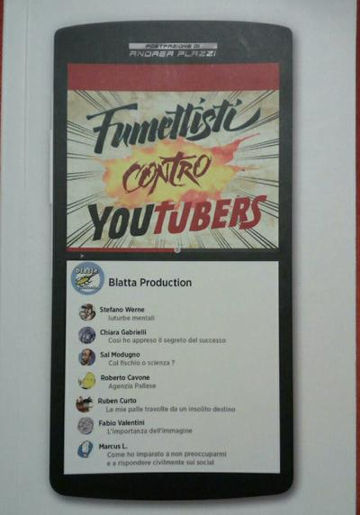 Cover image of Fumettisti contro Youtubers, color