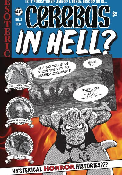 Cover image of Cerebus in Hell? #2, black&white