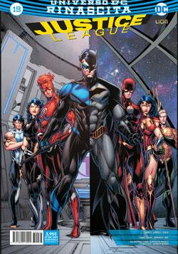 Cover image of Justice League Rinascita #19, color