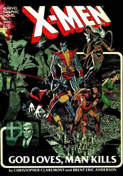 Cover image of X-Men: God Loves, Man Kills, color
