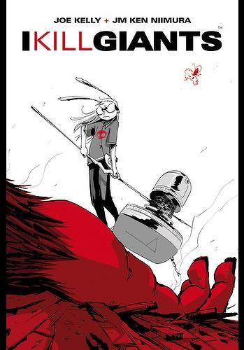 Cover image of I kill giants (ITA), black&white
