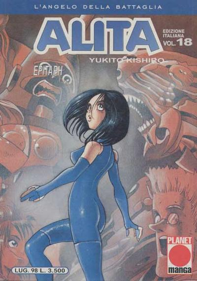 Cover image of Alita - L'angelo della battaglia #18, black&white