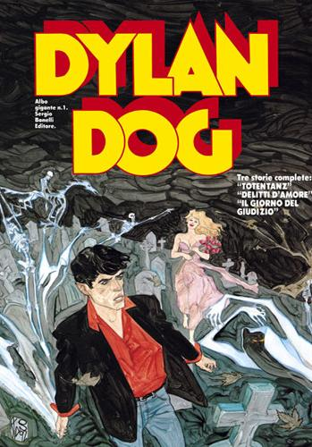 Cover image of Dylan Dog - Albo Gigante #1, black&white