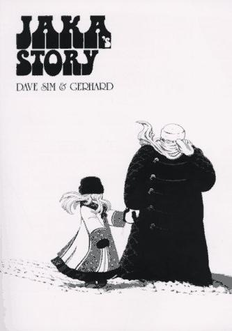 Cover image of Cerebus - Jaka's  Story, black&white