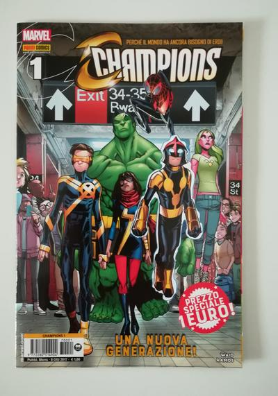 Cover image of Champions n. 1, color