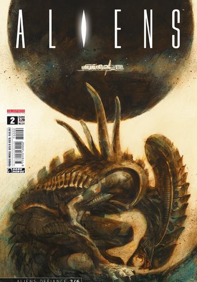 Cover image of Aliens #2, color