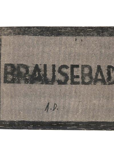 Cover image of Brausebad., black&white