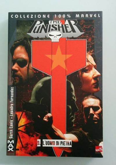 Cover image of The Punisher 100% Marvel Max : L'Uomo di Pietra ( PaniniComics 2008 ), color