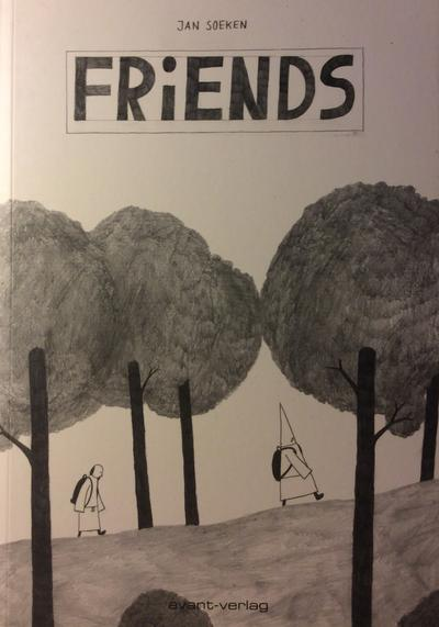 Cover image of Friends, black&white