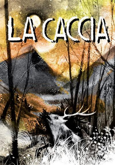 Cover image of La Caccia, black&white