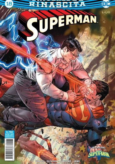 Cover image of Superman Rinascita #18, color