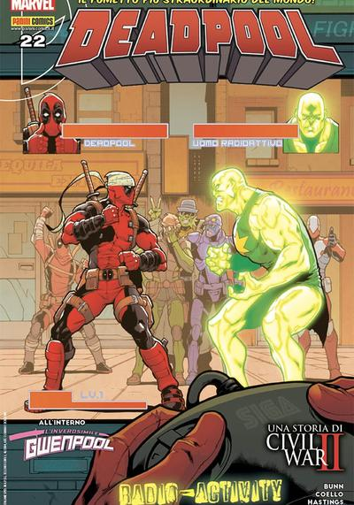 Cover image of Deadpool #22 (ITA), color