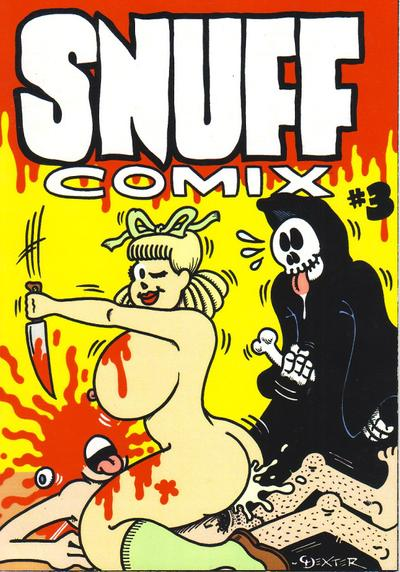Cover image of Snuff Comix #3, black&white