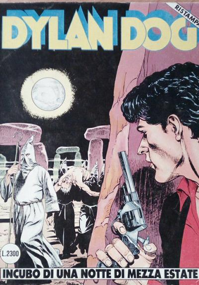 Cover image of Dylan Dog #36, black&white
