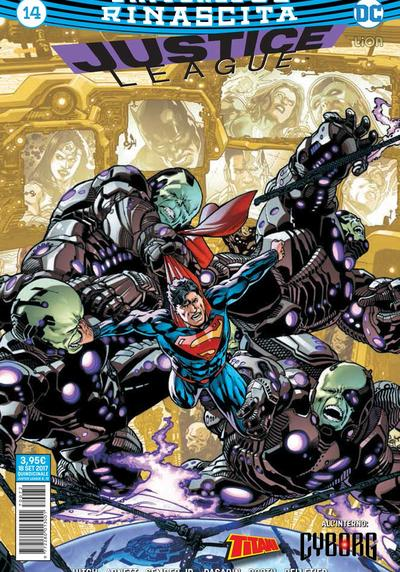 Cover image of Justice League Rinascita #14, color