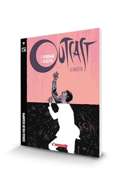 Cover image of Outcast #9 (ITA), black&white