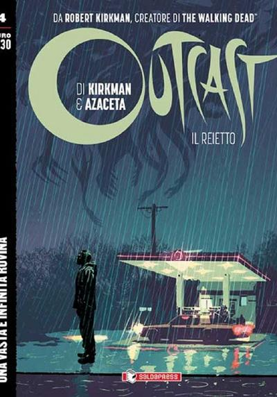 Cover image of Outcast #4 (ITA), black&white