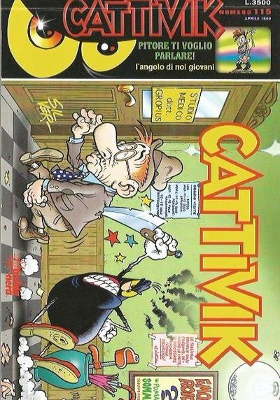 Cover image of Cattivik #115, black&white