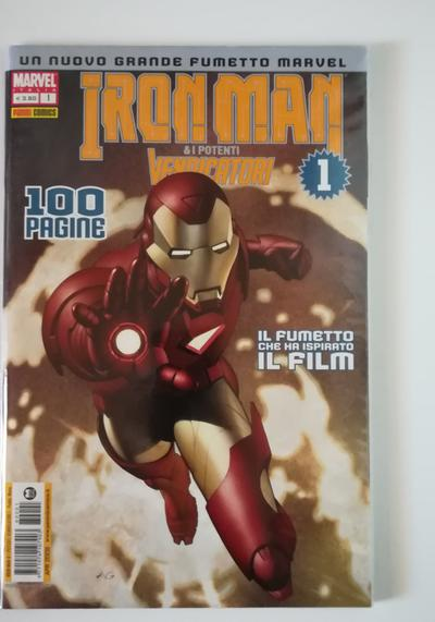 Cover image of Iron Man e I Potenti Vendicatori – Sequenza 1-13 ( Panini Comics 2008 ), color