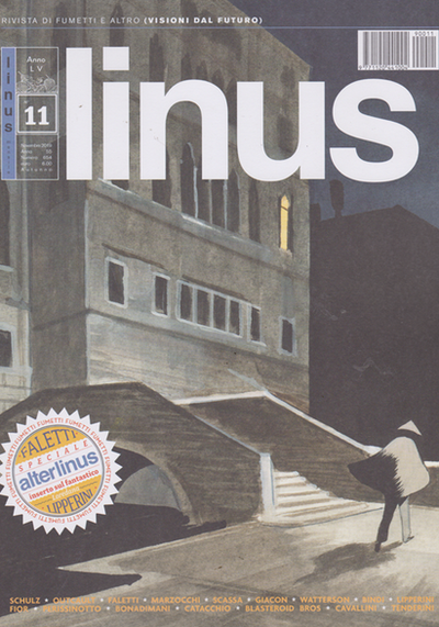 Cover image of Linus #654, black&white