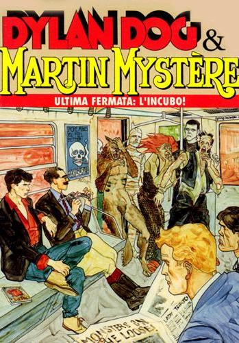 Cover image of Dylan Dog e Martin Mystère Speciale - ULTIMA FERMATA : L´INCUBO  ( 1990 ), black&white