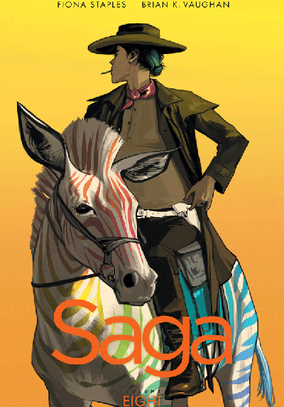 Cover image of Saga #8, color