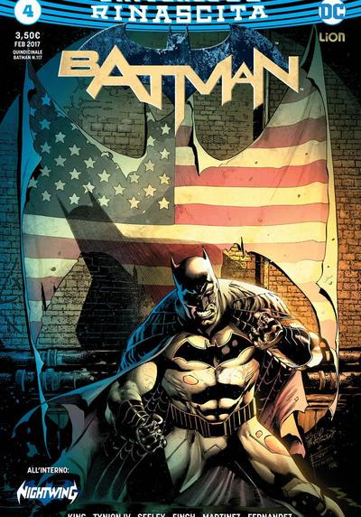 Cover image of Batman Rinascita #4, color