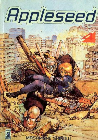Cover image of Appleseed #4 (ITA), black&white