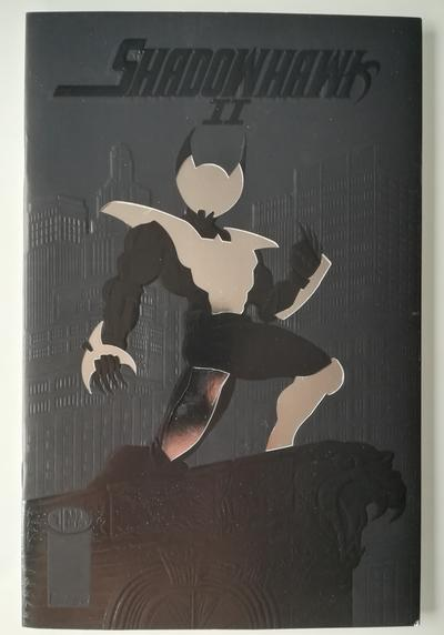 Cover image of Shadowhawk II n. 1 ( Image Comics 1993 ) Embossed, Die-cut, & silver foil cover, color