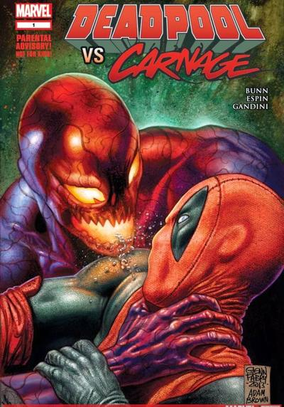 Cover image of Deadpool contro Carnage, color