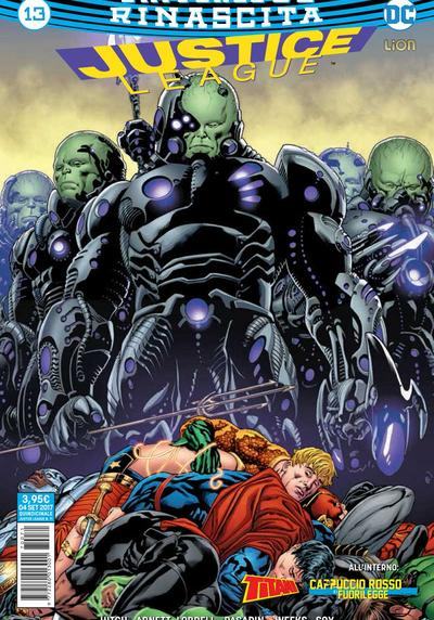 Cover image of Justice League Rinascita #13, color