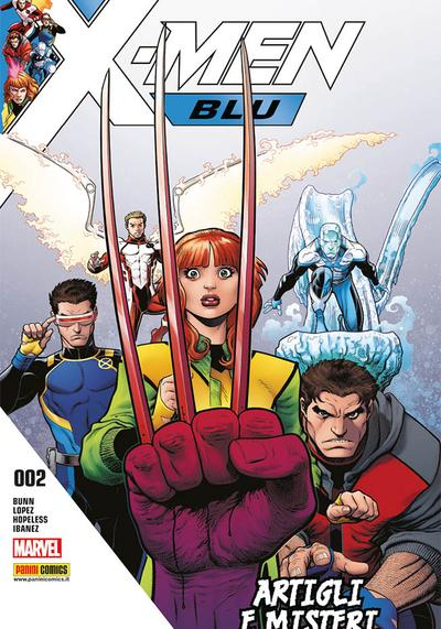 Cover image of X-Men Blu #2, color