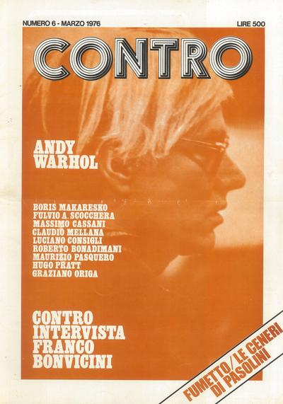 Cover image of CONTRO #6, black&white
