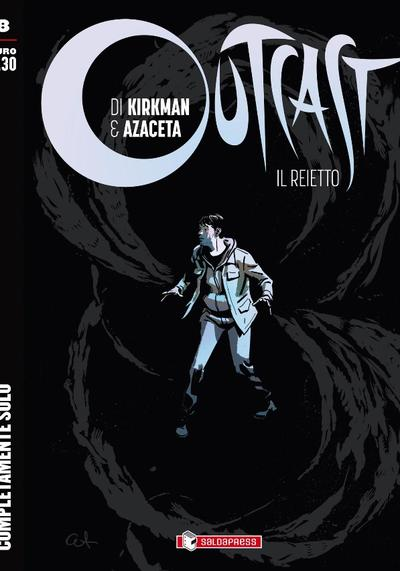Cover image of Outcast #8 (Ita), black&white