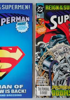 Cover image of Superman n.78-78b ( DC Comics 1993 ) Reign of the Supermen! Tie-in, color