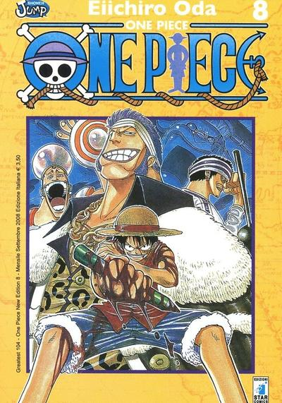 Cover image of One Piece #8 (Greatest 104), black&white