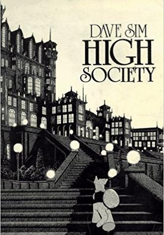 Cover image of Cerebus - High Society, black&white