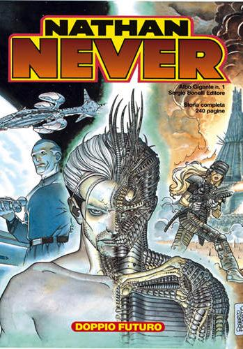 Cover image of Nathan Never #1, black&white