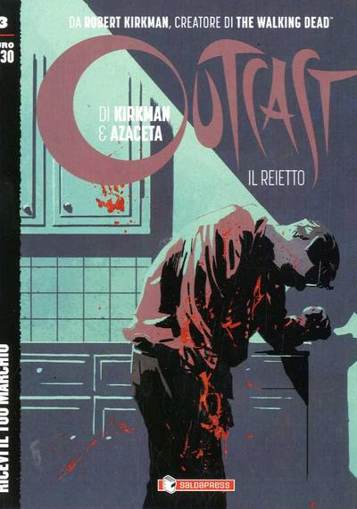 Cover image of Outcast #3 (ITA), black&white