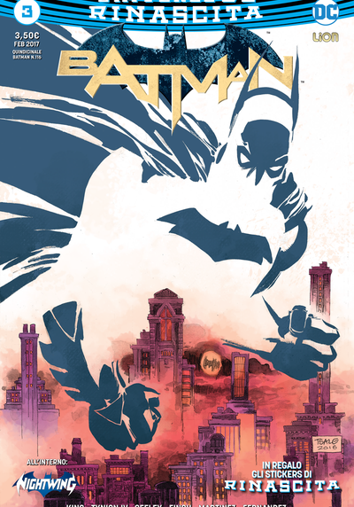 Cover image of Batman Rinascita #3, color