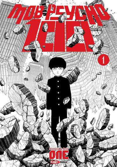 Cover image of Mob Psycho 100 #1, black&white