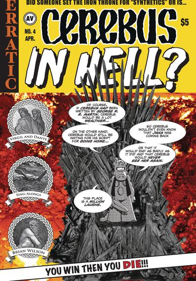 Cover image of Cerebus in Hell? #4, black&white