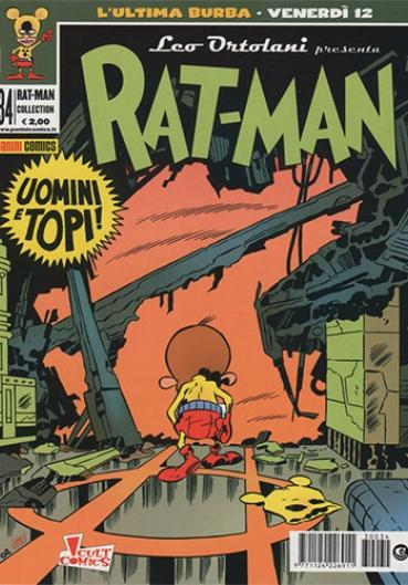 Cover image of Rat-Man Collection #34, black&white