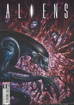 Cover image of Aliens #9, color