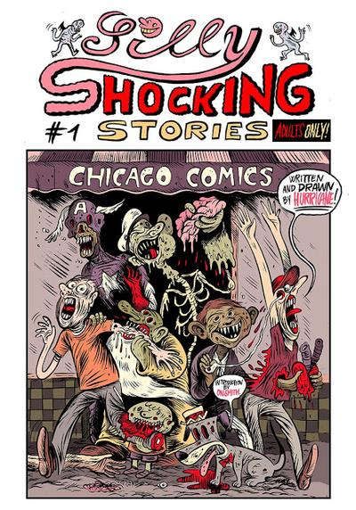 Cover image of Silly shocking stories #1, black&white