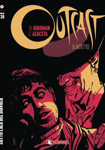 Cover image of Outcast #10 (ITA), black&white