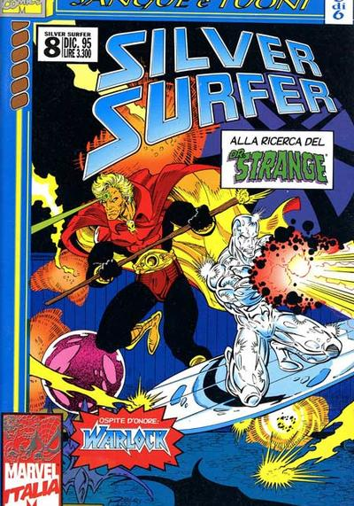 Cover image of Silver Surfer #8 (Marvel Italia), color