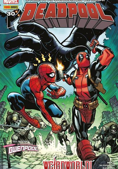 Cover image of Deadpool #30 (ITA), color