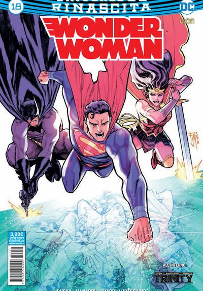 Cover image of Wonder Woman Rinascita #18, color