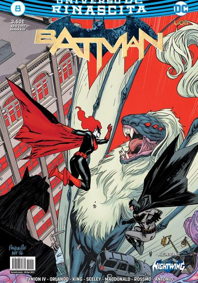 Cover image of Batman Rinascita #8, color